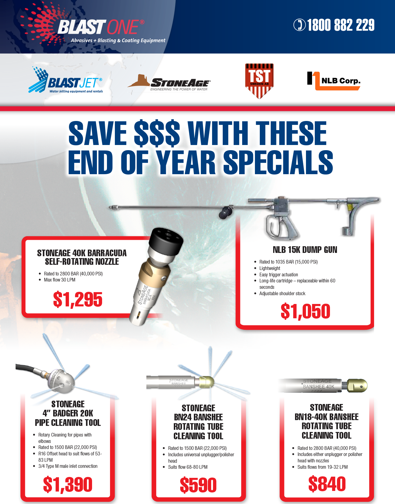 BlastJet End Of Year Specials Page 1